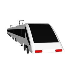 subway train isolated flat vector image