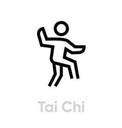 tai chi sport icon vector image