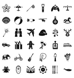 Toy icons set simple style vector