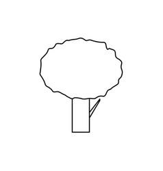 tree icon vector image vector image