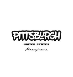 United states pittsburgh pennsylvania city vector