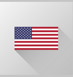 Usa official national flag vector