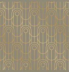 Vintage vibes geometric line grid seamless pattern vector
