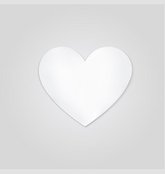 white heart on a gray background love symbol vector image