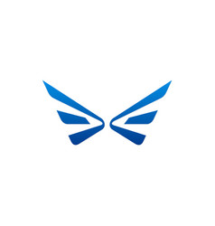 Wing fly logo vector