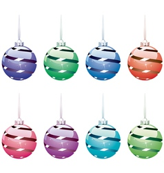 Winter holiday balls vector