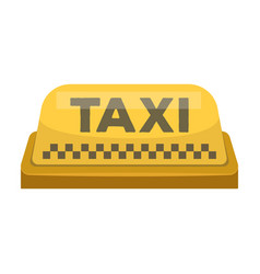 yellow checker taxi with logoequipment taxi vector image vector image