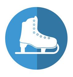 ice skate sport leisure shadow vector image