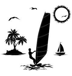 Set of elements vacation in the tropics vector image vector image