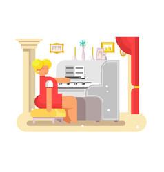 waman play on piano vector image