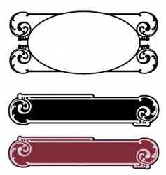 art nouveau nameplate vector image vector image