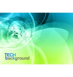 background abstract blue and green wave and tech vector image