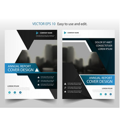 blue triangle abstract annual report brochure vector image