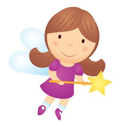 cartoon little girl fairy vector image vector image
