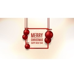 Christmas web banner with red balls vector image vector image