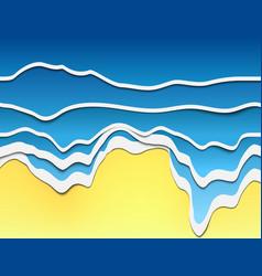 papercut wave 05 vector image vector image
