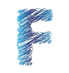 sketched letter F vector image vector image