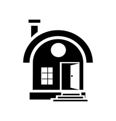 Small urban house icon simple style vector image vector image