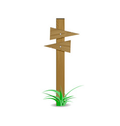 wooden signpost board arrow directional right left vector image