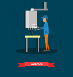 gasman concept in flat style vector image