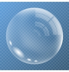 New bubble with glare vector image