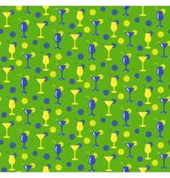 Seamless summer pattern with cocktails glasses vector image vector image