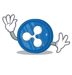 waving ripple coin character cartoon vector image
