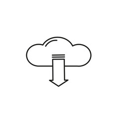 download from cloud icon vector image vector image
