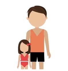 Happy family vacations holiday vector