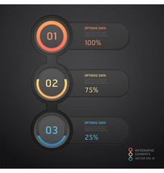 Infographics elements numbers template vector image vector image