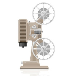 old retro movie film projector 02 vector image