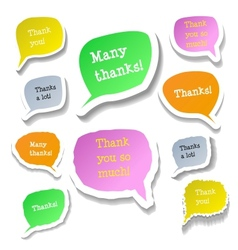 Retro clouds thank you speech vector image vector image