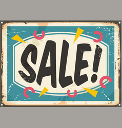sale sign template vector image vector image