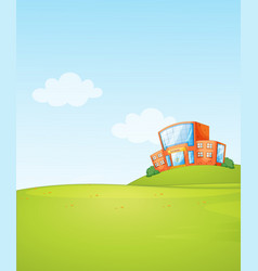 A school background template vector