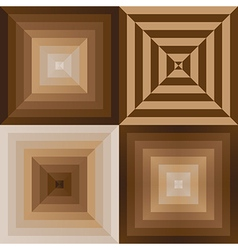 Abstract brown color pyramid background vector