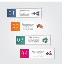 Abstract infographic vector image