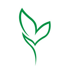 Abstract seedling symbol icon on white vector