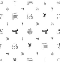 agriculture icons pattern seamless white vector image