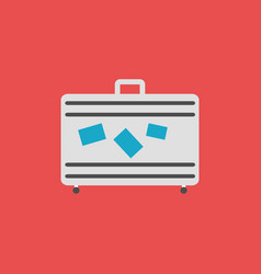 baggage flat icon sign and symbol vector image