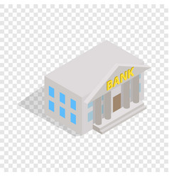Bank building isometric icon vector
