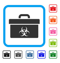 biohazard toolbox framed icon vector image