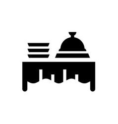 Buffet food icon vector