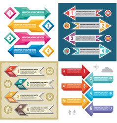 business infographic templates concept illu vector image