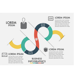 business process timeline infographics with 3 vector image