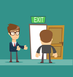 Businessman welcomes you to come to his home vector