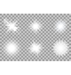 Collection of lights effect vector image