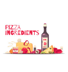 colored pizza composition vector image