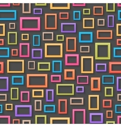 Colorful picture frames seamless background vector image