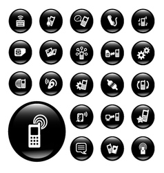 communication and internet icons vector image
