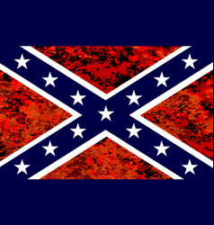 confederate flag over fire vector image